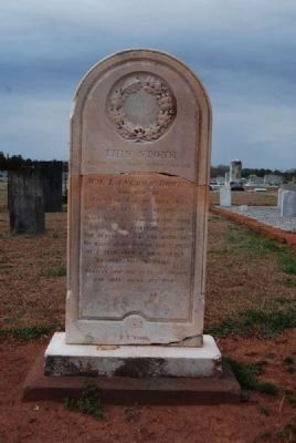 William Langdon Bowie Tombstone<br>Carved by W.T. White image. Click for full size.