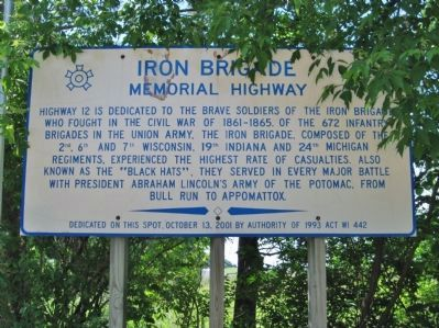 Iron Brigade Marker image. Click for full size.