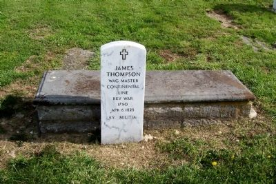 James Thompson Grave Stone Photo, Click for full size