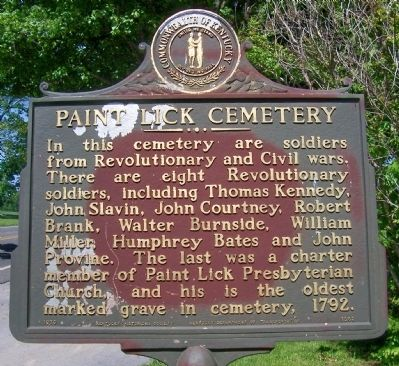 Paint Lick Cemetery Marker image. Click for full size.