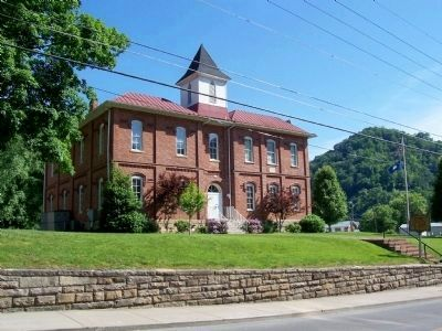Pikeville Collegiate Institute Marker and Building image. Click for full size.