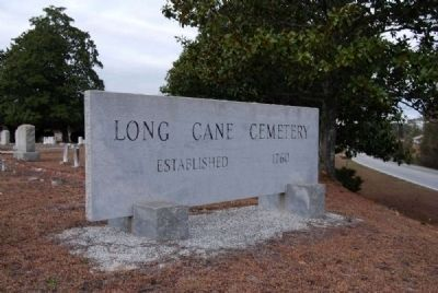 Long Cane Cemetery Granite Marker<br>Erected 1963 image. Click for full size.
