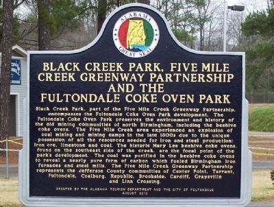 Black Creek Park, Five Mile Creek Greenway Partnership and the Fultondale Coke Oven Park Marker image. Click for full size.
