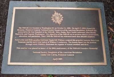 NSDAR Founders Memorial Marker image. Click for full size.