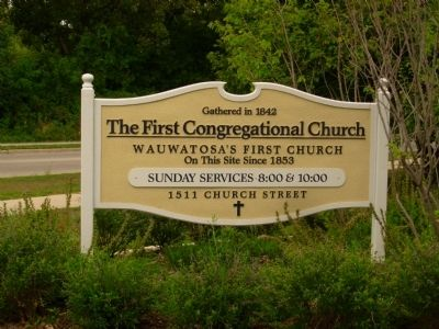 First Congregational Church Sign image. Click for full size.