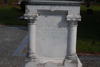 U.S. Rep. James Sproull Cothran<br>Tombstone - North Facing image. Click for full size.