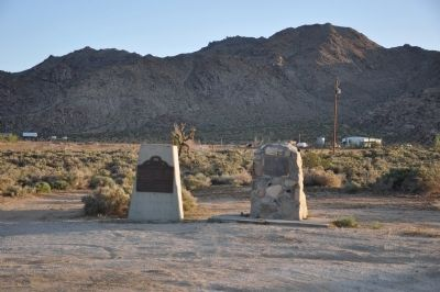 Chimney Rock and The Last Indian Fight in Southern California Markers image. Click for full size.
