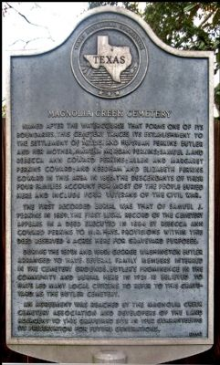Magnolia Creek Cemetery Marker image. Click for full size.