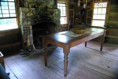 John Robert Patrick Cabin<br>Interior - Dining Table image. Click for full size.
