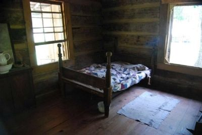 John Robert Patrick Cabin<br>Interior - Straw Bed image. Click for full size.