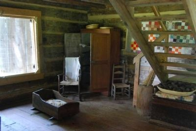 John Robert Patrick Cabin<br>Interior - Staircase image. Click for full size.