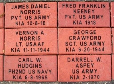 Veterans Memorial Pavers image. Click for full size.