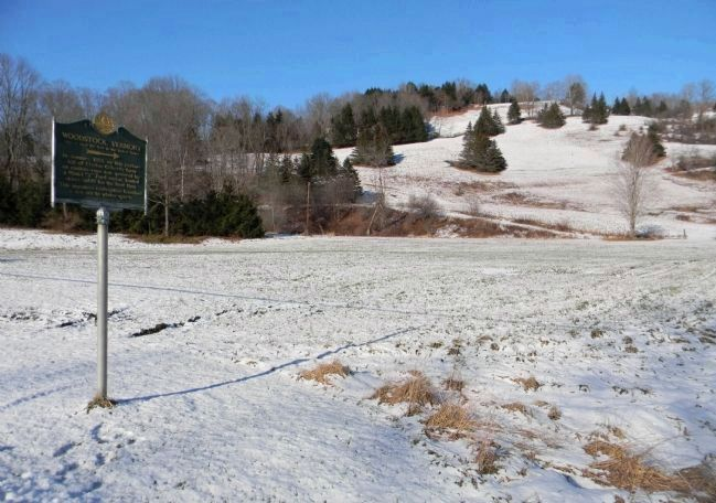 Wide-View of the Site of First Ski Tow in the United States Marker Photo, Click for full size