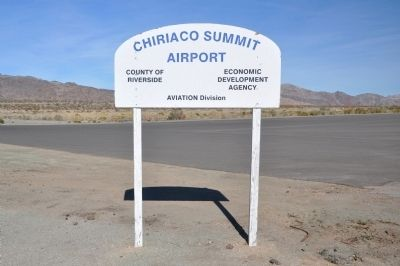 Chiriaco Summit Airport image. Click for full size.