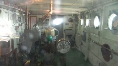 S.S. <i>Lane Victory</i> wheel house Photo, Click for full size