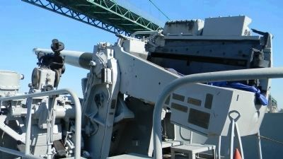 "S.S. <i>Lane Victory</i> - 5"" gun mount on fantail Photo, Click for full size"