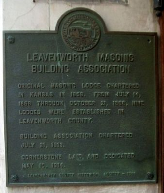 Leavenworth Masonic Building Association Marker image. Click for full size.