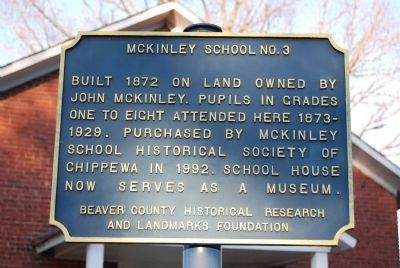 McKinley School Marker Photo, Click for full size