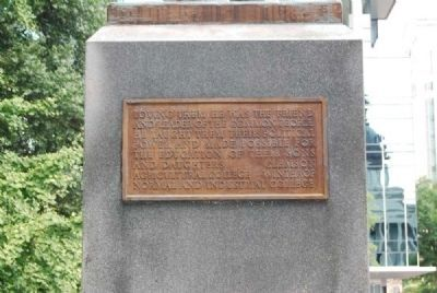 Benjamin Ryan Tillman Monument<br>South Plaque image. Click for full size.