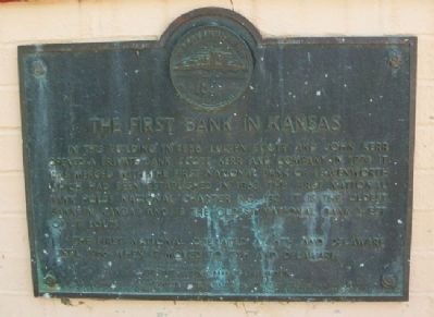 The First Bank in Kansas Marker image. Click for full size.