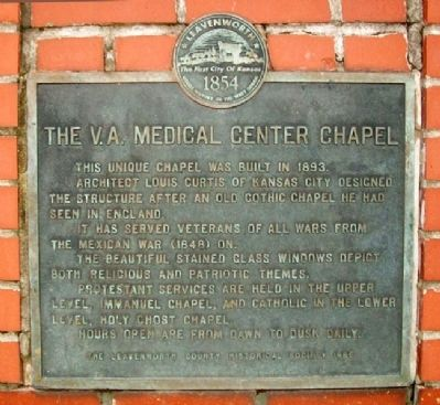 The V.A. Medical Center Chapel Marker image. Click for full size.