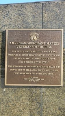 American Merchant Marine Veterans Memorial Marker image. Click for full size.