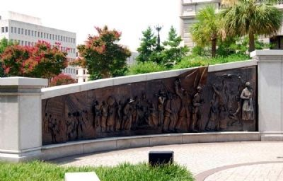 African-American History Monument<br>South Panel Showing image. Click for full size.