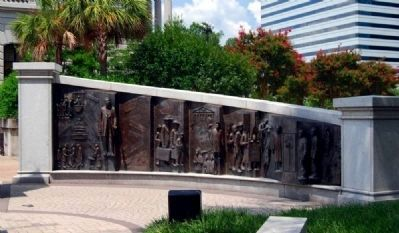 African-American History Monument<br>North Panel Showing image. Click for full size.