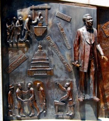African-American History Monument<br>North Panel image. Click for full size.