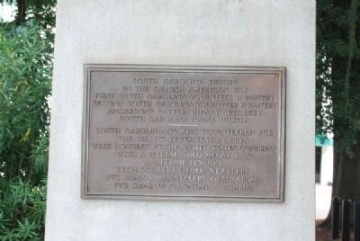 Spanish-American War Veterans Monument<br>South Plaque image. Click for full size.