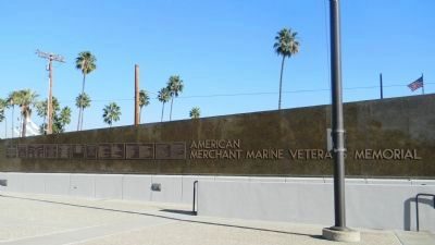 American Merchant Marine Veterans Memorial - wall of recognition image. Click for full size.
