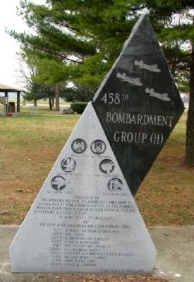 458th Bombardment Group (H) Marker image. Click for full size.