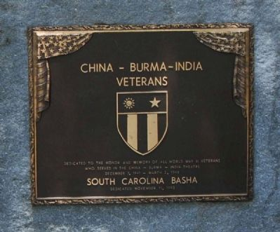 China - Burna - India Veterans Marker image. Click for full size.