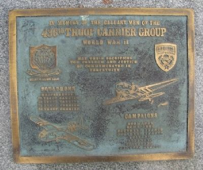 436th Troop Carrier Group Marker image. Click for full size.