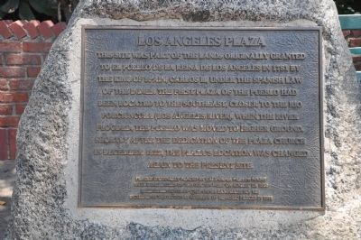 Los Angeles Plaza Marker image. Click for full size.