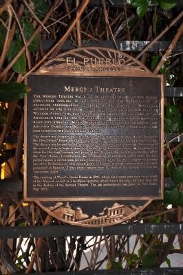 Merced Theatre Marker Photo, Click for full size