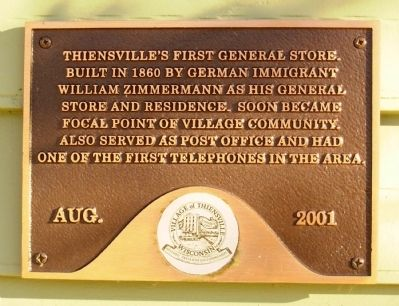 Thiensville�s First General Store Marker image. Click for full size.