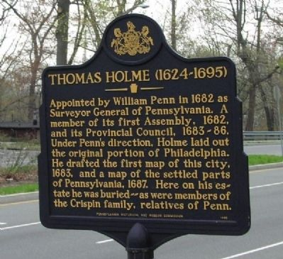 Thomas Holme Marker image. Click for full size.