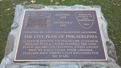 The City Plan of Philadelphia Marker Photo, Click for full size