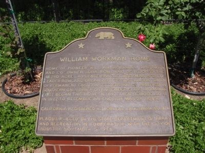 William Workman Home Marker image. Click for full size.
