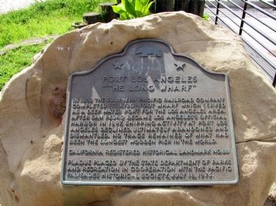 "Site of ""Port Los Angeles"" Long Wharf Marker image. Click for full size."