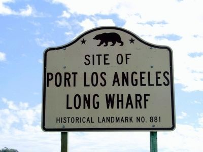Site of Port Los Angeles Long Wharf image. Click for full size.