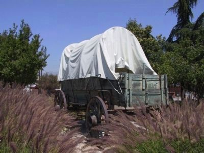 Covered Wagon on Display image. Click for full size.