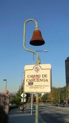 El Camino Real Bell Marker on Lankersheim Blvd. image. Click for full size.