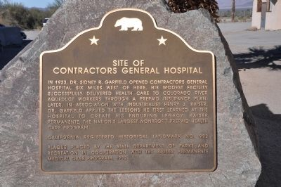 Site of Contractors General Hospital Marker image. Click for full size.