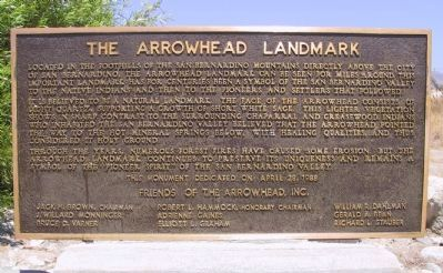 The Arrowhead Landmark Marker image. Click for full size.