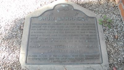 Drum Barracks Marker Photo, Click for full size