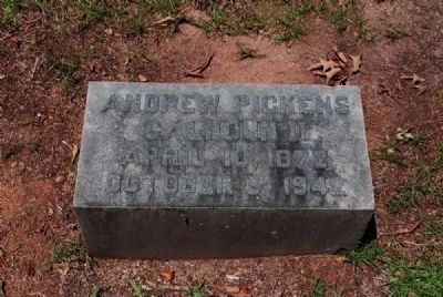 Andrew Pickens Calhoun II Tombstone image. Click for full size.