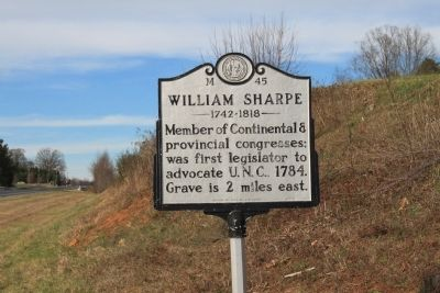 William Sharpe Marker image. Click for full size.