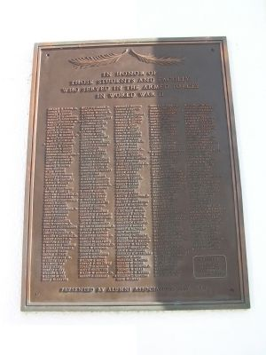 World War II Memorial - Salisbury College Marker image. Click for full size.